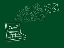Överförd e-post vektor illustrationer