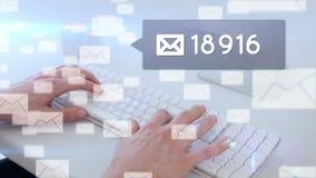 Överföring av meddelanden till och med email lager videofilmer