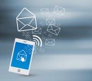 Överföring av SMS royaltyfri illustrationer