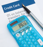överföring för kreditering för jämviktskort Arkivbild