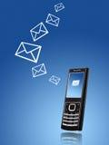 överföring för telefon för begreppsmeddelande mobil Royaltyfri Fotografi