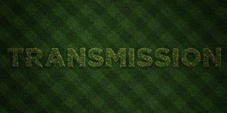 ÖVERFÖRING - nya gräsbokstäver med blommor och maskrosor - 3D framförd fri materielbild för royalty vektor illustrationer