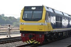 Överföringsceremonin av den dieselelektriska lokomotivet till den statliga järnvägen av Thailand Arkivbild