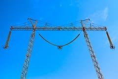 Överföringstornet utan kablar Arkivbild