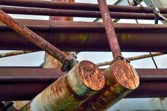 Överflödig struktur med Rusty Steelwork Royaltyfria Foton