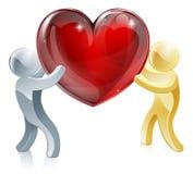 Övergående förälskelsehjärta Arkivfoto