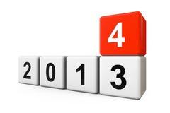 Övergång från året 2013 till 2014 Arkivbilder