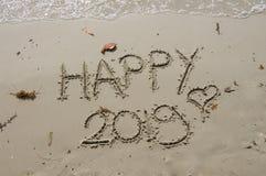 2018/2019 övergång - helgdagsafton för nya år royaltyfri foto