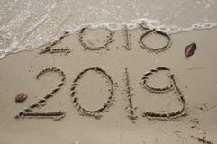 2018/2019 övergång/nya år helgdagsafton arkivfoton