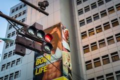 Övergångsställe på det Ikebukuro området av den Tokyo metropolisen, Japan Arkivfoton