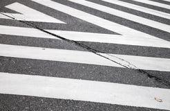Övergångsställe sebra för vägmarkering, abstrakt begrepp Arkivfoton