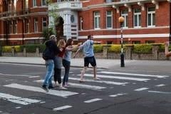 Övergångsställe till Abbey Road, London Royaltyfria Bilder