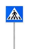 Övergångsställe vägmärke Arkivfoton