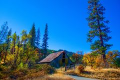 Övergav Autumn Barn arkivfoton