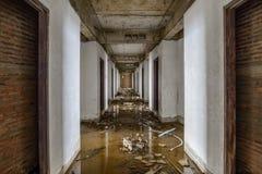Övergav byggnader översvämmades Fotografering för Bildbyråer