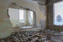 Övergav byggnader fördärvar Fotografering för Bildbyråer