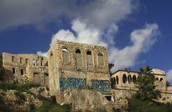 I stadens centrum Haifa Arkivbilder