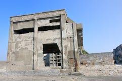 Övergav byggnader på Gunkajima i Japan Fotografering för Bildbyråer