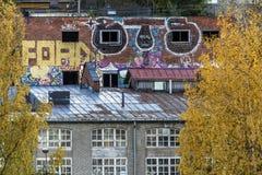 Övergav fabriker Arkivbilder