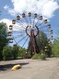 Övergav Ferris Wheel, Tjernobyl Arkivfoto