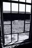 Övergav gamla maler fönstret Royaltyfria Bilder