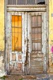 Övergav gamla shoppar Arkivbild