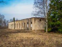 Övergav hus eller objekts i ruines Royaltyfri Foto
