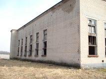 Övergav hus eller objekts i ruines Arkivfoton