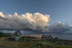 Övergav hus i Östersjön Royaltyfria Bilder