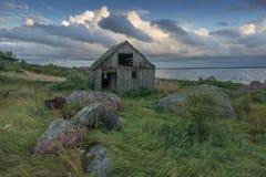 Övergav hus i Östersjön Royaltyfri Foto