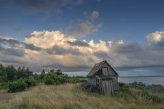 Övergav hus i Östersjön Royaltyfri Fotografi