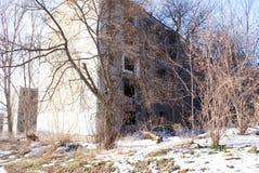 Övergav hus i Pripyat Royaltyfri Fotografi