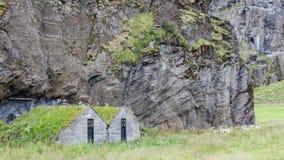 Övergav isländskahus Royaltyfri Foto