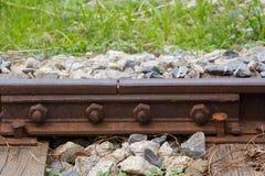 Övergav järnvägsspår Arkivbilder