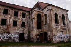 Övergav och fördärvade byggnader Arkivbilder