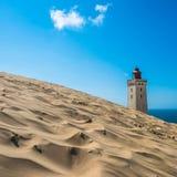 Övergav Rubjerg Knude fyr- och sanddyn, Nordsjöncoa Royaltyfri Fotografi