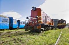 Övergav tappningjärnvägvagnar Arkivfoton