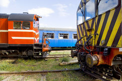 Övergav tappningjärnvägvagnar Royaltyfria Foton