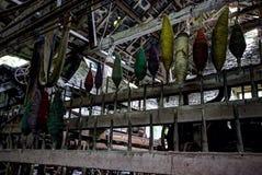Övergav textiler maler Arkivfoton