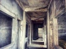 Övergav väggar Arkivfoton
