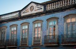 Överge byggnad i Portugal arkivfoto