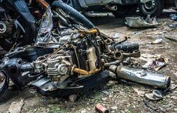Överge det rostiga för motoravfalls för den motoriska cirkuleringen som fotoet tas i jakarta indonesia royaltyfria foton