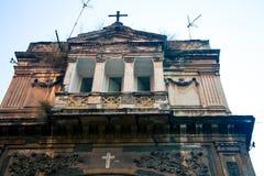 Överge kyrkan i Naples Italien arkivbilder