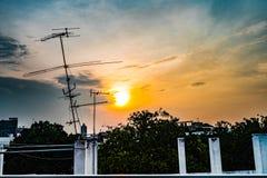 Överge ställe- och himmelbakgrund royaltyfri bild