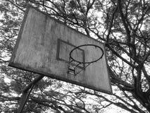 Övergett basketbräde fotografering för bildbyråer