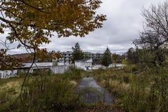 Övergett brunt hotell för ` s - Catskill berg, New York royaltyfri foto