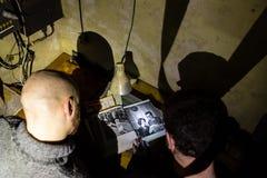 Övergett bunkerinventarium arkivbilder