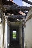 Övergett demolerat hus Royaltyfria Bilder