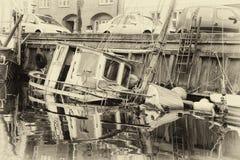 Övergett fartyg Arkivfoton