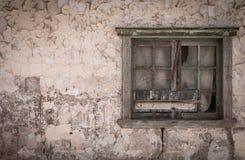 Övergett hem, Humberstone spökstad, Atacama öken, Chile Royaltyfri Fotografi